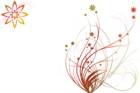 tenderly: Beautiful illustrated flower background design with space for your text Stock Photo