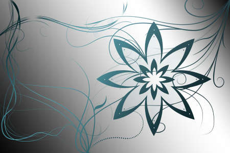 tenderly: Beautiful illustrated flower background design with gradient