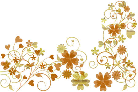 Beautiful illustrated flower background design with space for your text photo