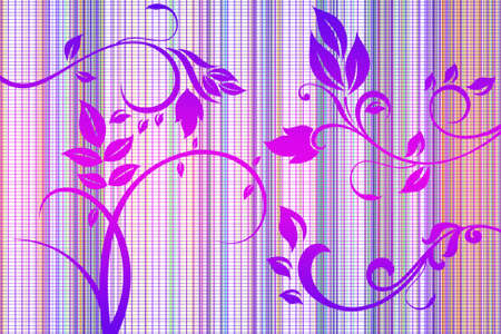 Beautiful illustrated flower design with background pattern Stock Photo - 9375538