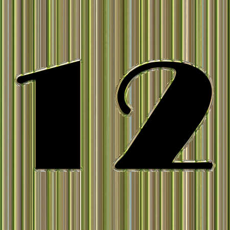 Abstract glass background with number 12 and space for your text photo