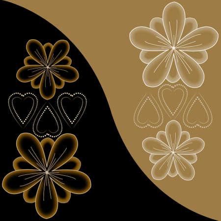 Beautiful illustrated flower background design photo