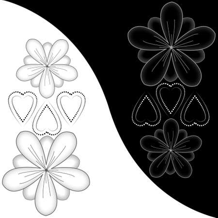 Beautiful illustrated flower background design Stock Photo - 9395074