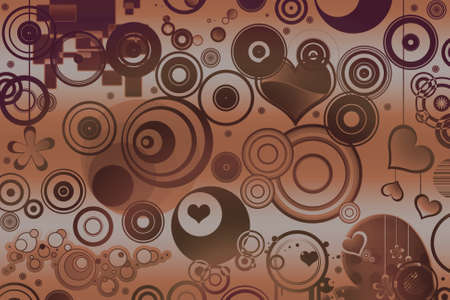Abstract illustrated retro style background photo