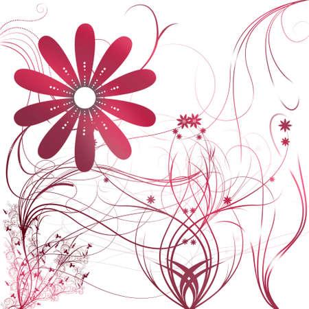 Diseño de fondo de bella flor ilustrado con degradado Foto de archivo