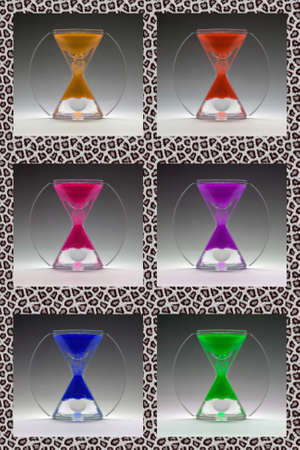 Compilation colored egg timers about 1960-1970 Stock Photo - 9691623