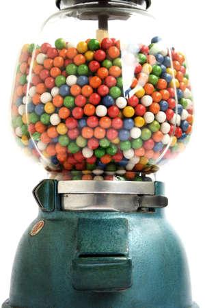 distributeur automatique: Vieux distributrice de gomme � m�cher � 1950 Banque d'images