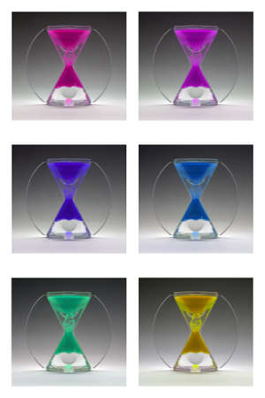 Compilation colored egg timers about 1960-1970 Stock Photo - 9822941