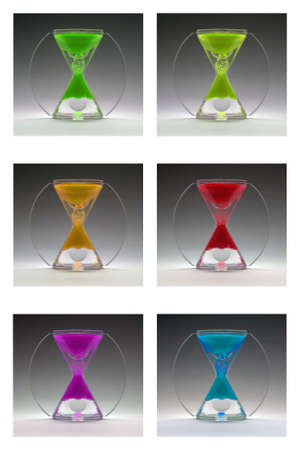 compilation: Compilation colored egg timers about 1960-1970