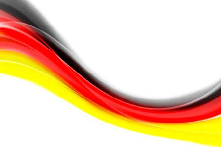 あなたのテキストのためのスペースを持つドイツの抽象的なフラグ 写真素材