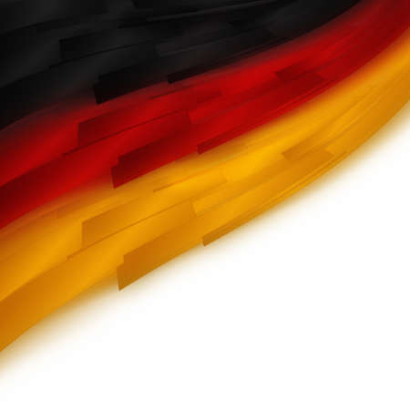 Ilustrado bandera alemana para eventos deportivos