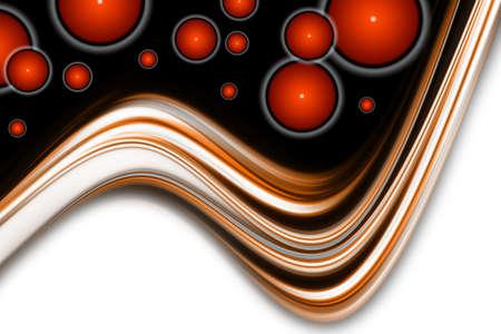 Resumen de onda elegante dise�o de fondo con objetos circulares y espacio para el texto Foto de archivo - 12892150