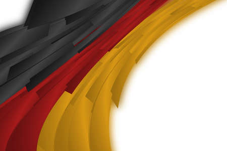 soccer wm: Illustrated German flag for sport events