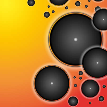 Abstract geometric retro background style with circle objects Stock Photo - 13167931