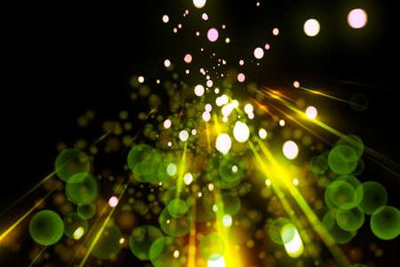 Futuristic light background design with bubbles photo