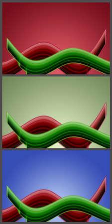 Wonderful set of abstract elegant background design Stock Photo - 14844742