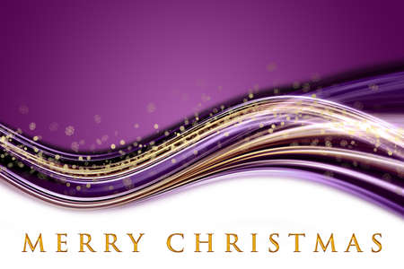 Fantastic Christmas wave design with snowflakes and space for your text Stock Photo - 15197802