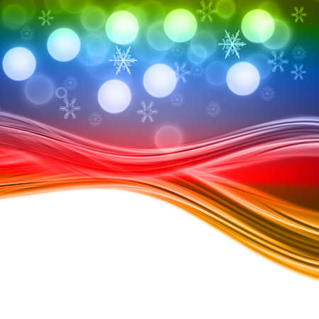 red white and blue: Fantastic Christmas wave design with snowflakes and space for your text Stock Photo