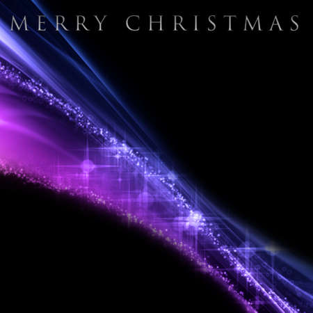 Fantastic Christmas wave design with snowflakes and glowing stars photo