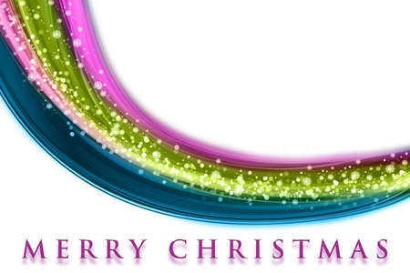Fantastic Christmas wave design with snowflakes and space for your text Stock Photo - 14925678