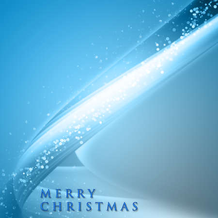 Fantastic Christmas wave design with snowflakes and space for your text Stock Photo - 14925563