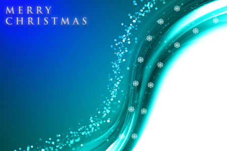 Fantastic Christmas wave design with snowflakes and space for your text photo