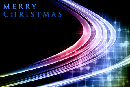 Fantastic Christmas wave design with glowing stars Stock Photo - 14925645