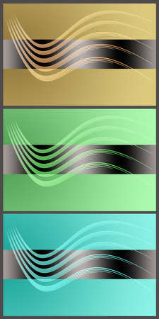 Wonderful set of abstract elegant background design photo