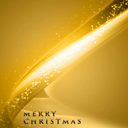 golden star: Fantastic Christmas wave design with snowflakes and space for your text Stock Photo