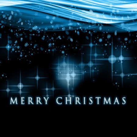 Fantastic Christmas Wave-Design mit Schneeflocken und leuchtende Sterne Standard-Bild - 15308744