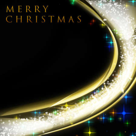 x mas card: Fantastic Christmas wave design with snowflakes and glowing stars