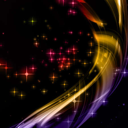 Fantastic Christmas wave design with glowing stars Stock Photo - 15550150
