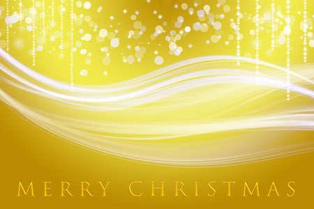 幻想的なクリスマスの波を雪の結晶デザインします。
