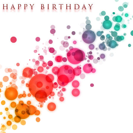 Wonderful birthday background design with bubbles photo