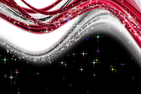 Fantastic Christmas wave design with snowflakes and glowing stars Stock Photo - 15750813