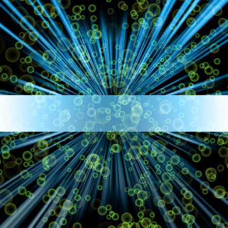 Fantastic stripe design with bubbles Stock Photo - 15751046