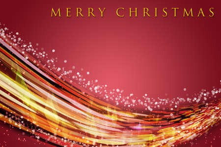 Fantastic Christmas wave design with snowflakes and glowing stars Stock Photo - 15797233
