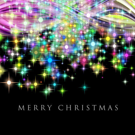 merry time: Fantastic Christmas wave design with glowing stars