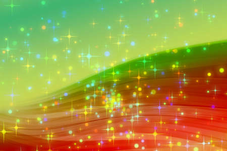 Fantastic Christmas wave design with glowing stars Stock Photo - 15954456