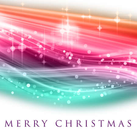 Fantastic Christmas dise�o de onda con copos de nieve y estrellas que brillan intensamente
