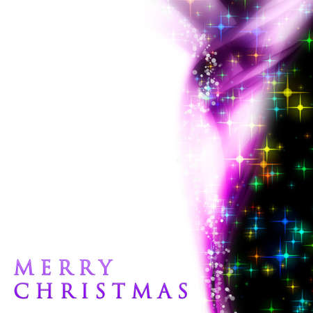 merry time: Fantastic Christmas wave design with snowflakes and glowing stars