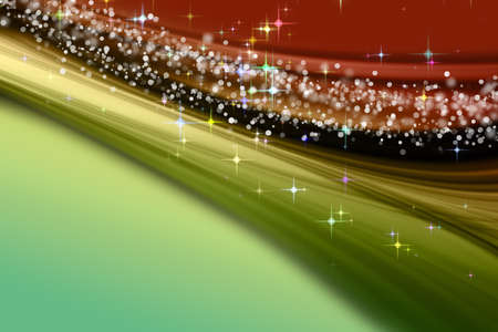x mas: Fantastic Christmas wave design with snowflakes and glowing stars