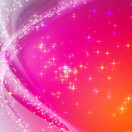 fondo elegante: Fantastic Christmas dise?o de onda con copos de nieve y estrellas que brillan intensamente Foto de archivo