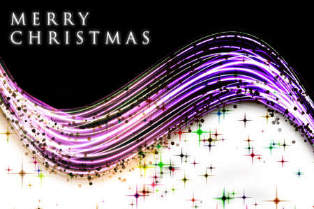 pink and black: Fantastic Christmas wave design with snowflakes and glowing stars