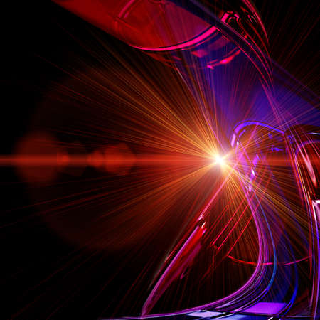 Ola futurista tecnología de diseño de fondo con luces