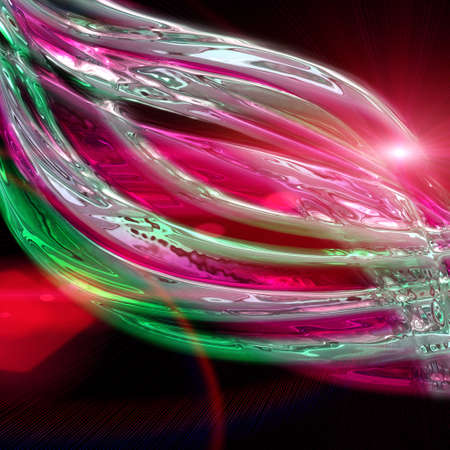 Futuristic technology wave background design with lights Stock Photo - 16623501
