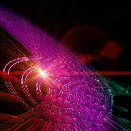 Ola futurista tecnolog�a de dise�o de fondo con luces