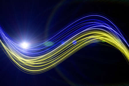 Futuristic technology wave background design with lights Stock Photo - 17061503