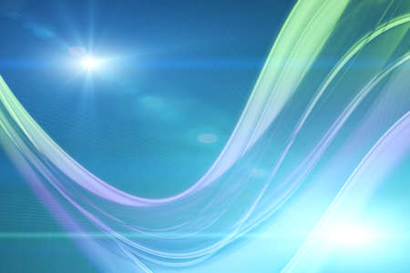 Futuristic technology wave background design with lights photo