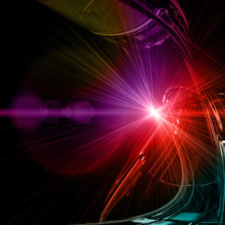 Futuristic technology wave background design with lights Stock Photo - 17553664